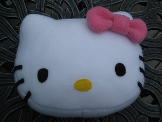 Hello Kitty Plush Pillow with Pink Bow