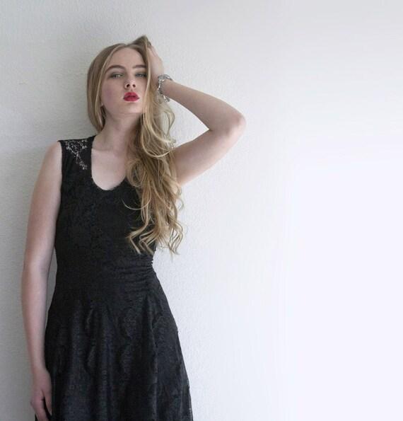 Little black lace dress couture