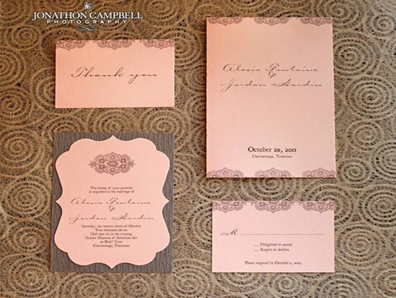 Vintage Lace Invitation Suite