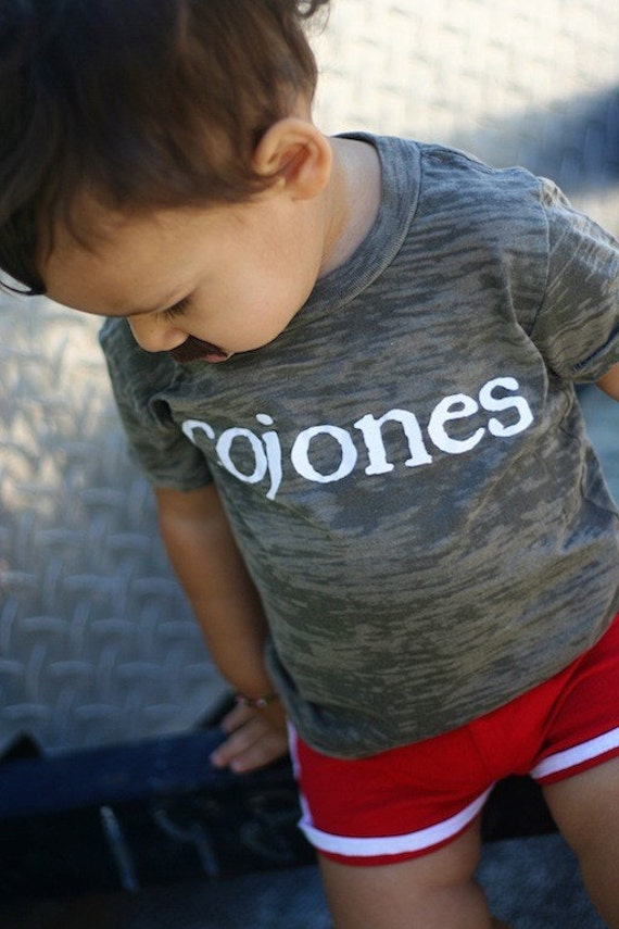Cojones 2T Gray Baby Burnout T Shirt