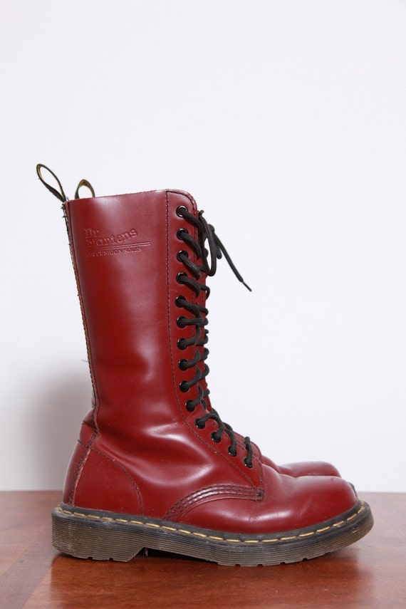 14 Hole OX BLOOD Doc Martens Combat Boots 7