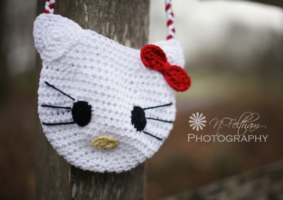 Hello Kitty Crochet Bag 100% Luxury Cotton