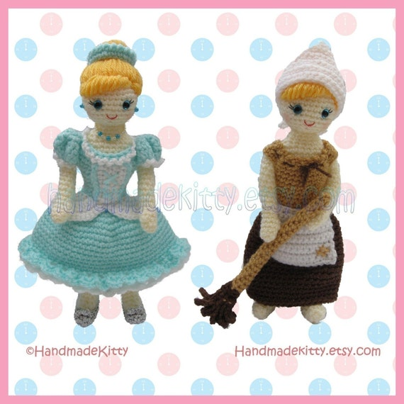 Dress up Cinderella Amigurumi PDF Crochet Pattern