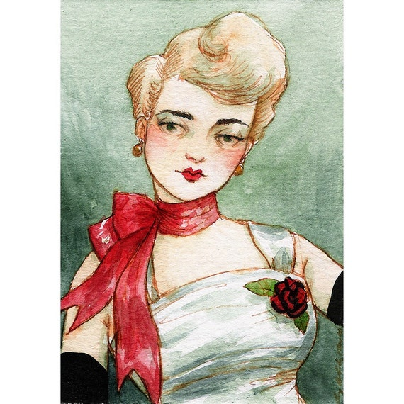 La Belle -- ACEO Limited Edition Print by Amy Abshier Reyes 2/30