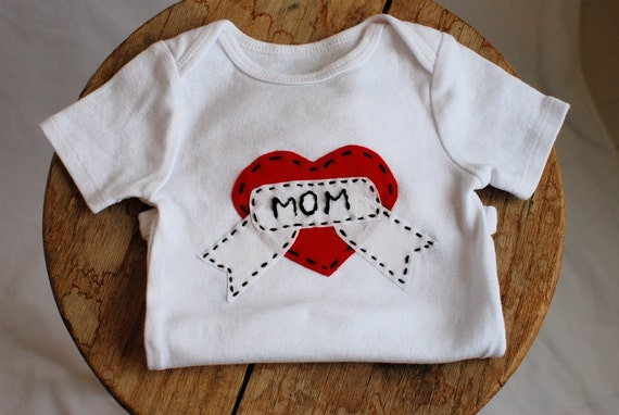 SALE- Mommy Heart Tattoo 9-12 month- Valentines Day-READY to SHIP