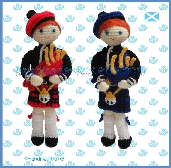 Scottish Bagpiper Amigurumi Crochet Pattern by HandmadeKitty