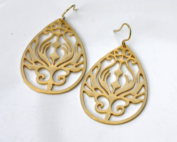 Art Nouveau Earrings - 16k gold plated MOTHERS DAY