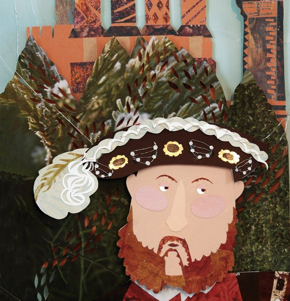 Henry VIII Illustration Print - 8 x 16