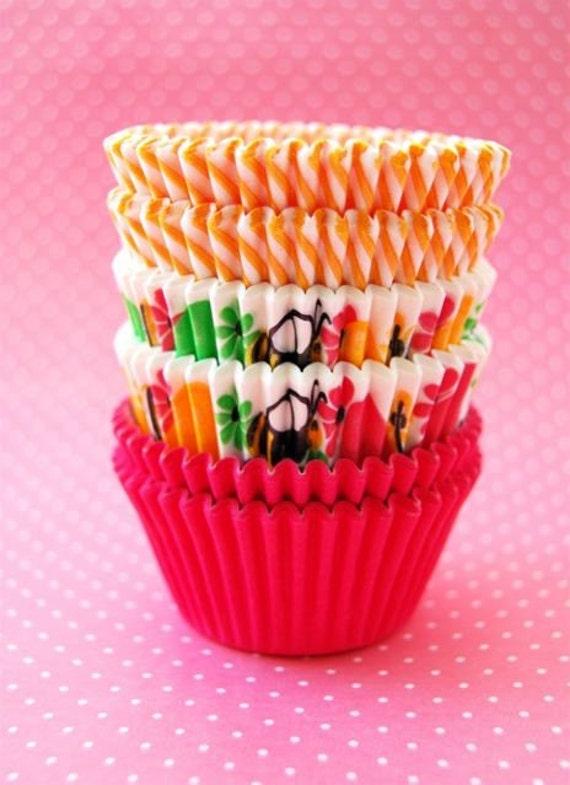 Assorted Springtime Cupcake Liners (45)