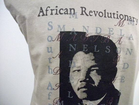 T Shirt of Nelson Mandela of South Africa