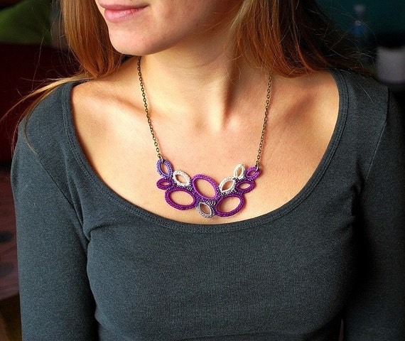Lavender Crochet Necklace