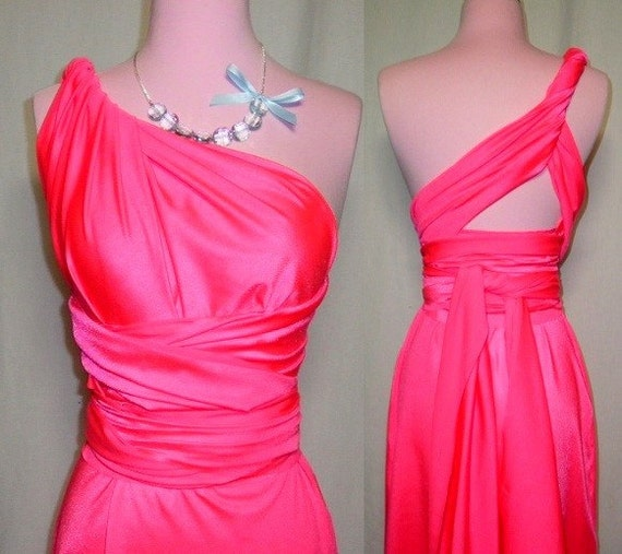 Coral BRIDESMAID Convertible Wrap Twist Dress...One Dress/Infinite Styles...82 Colors /Patterns to Choose From