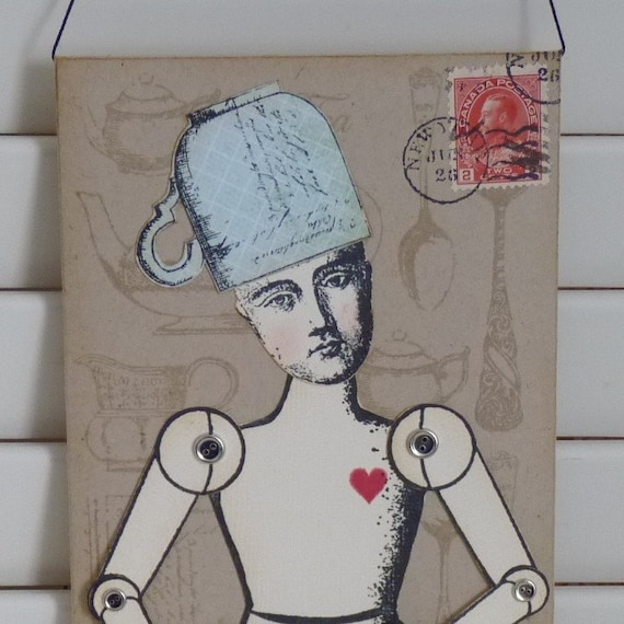 Tea Lover Paper Doll Envelope