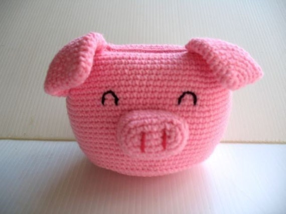 Crochet Cell Phone Holder - PIGGY