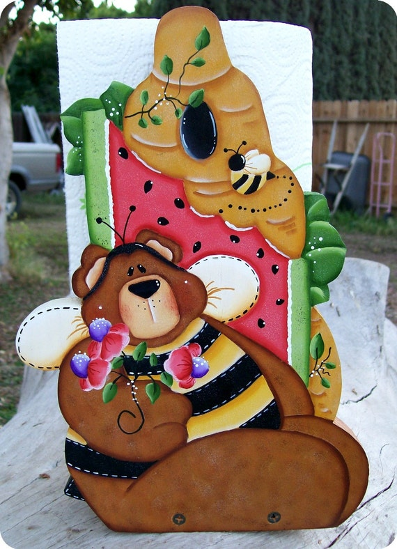 Bumble Bear Paper Towel Holder