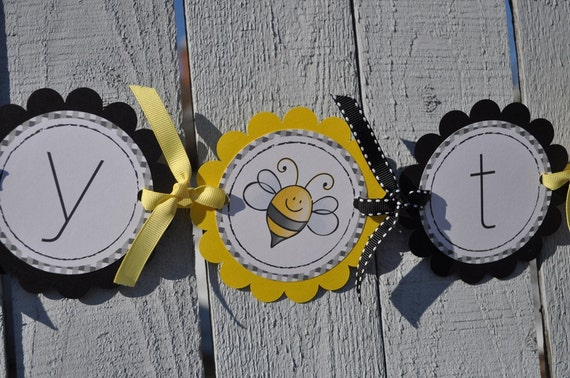 Baby Shower Banner - Bumble Bee Theme - Mommy To Bee