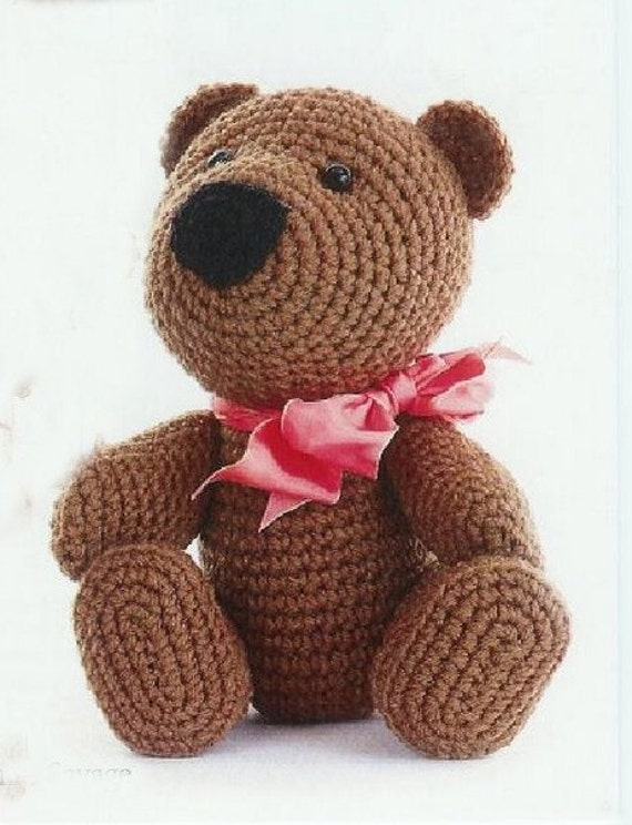 Free shipping Teddy bear Crochet  pattern 1 (PDF)