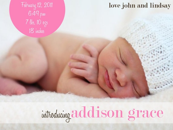 Which picture for birth announcement The Bump – Baby Girl Announcement Ideas