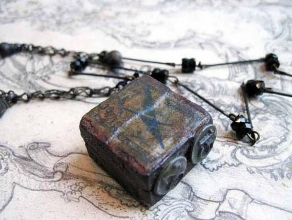 Galimatias. Printer's Block Necklace.
