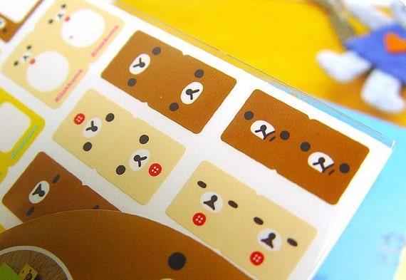 Rilakkuma Index Sticker (2sheets)