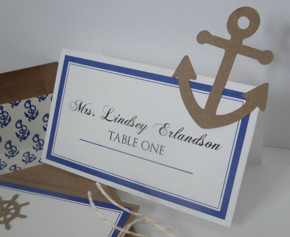 Anchor and Helm Seating Cards for your Wedding