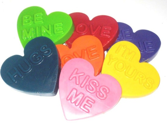 Chunky Heart Conversation Scribblers -Set of (7) 2nd Chance Crayons