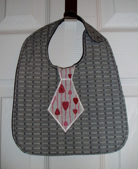 Reversible Tie Baby Boy Bib Valentine and Easter