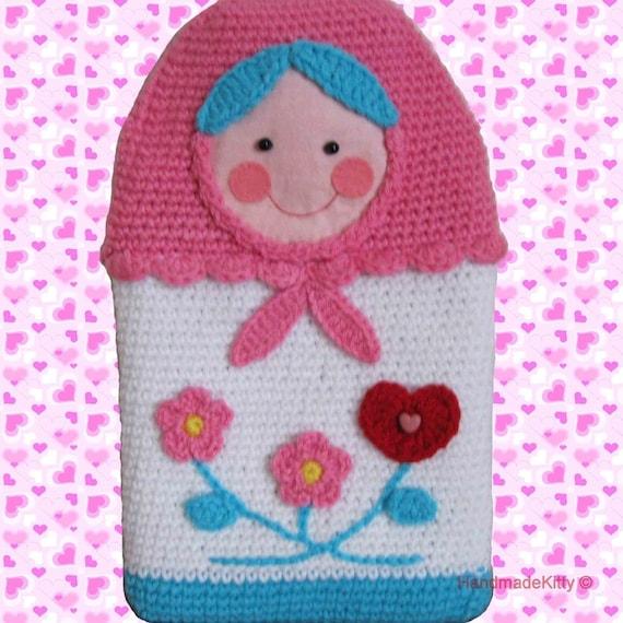 Russian Matryoshka Babushka Doll Hot Water Bottle Cover Amigurumi PDF Crochet Pattern