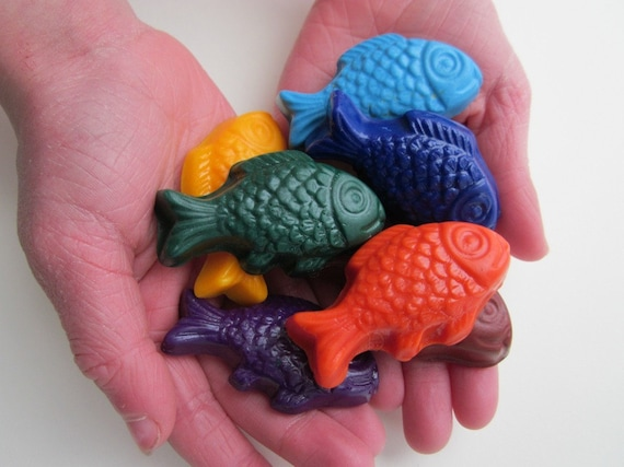 Walley Fish  SOY CRAYONS - Handmade, All Natural, Biodegradable (Set of 8)