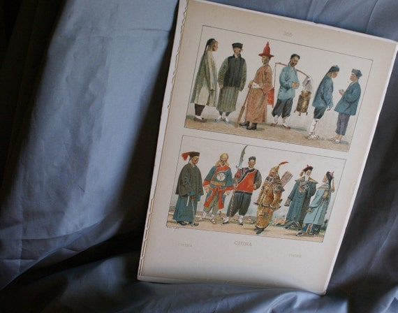 Vintage Max Tilke Prints Page Costumes of China