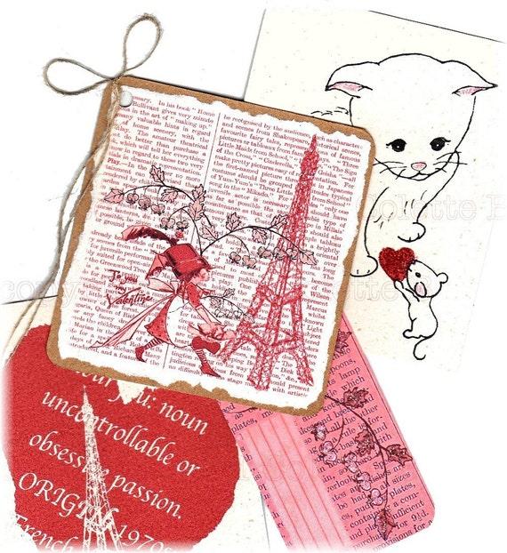 Retro Romance digital Valentine page