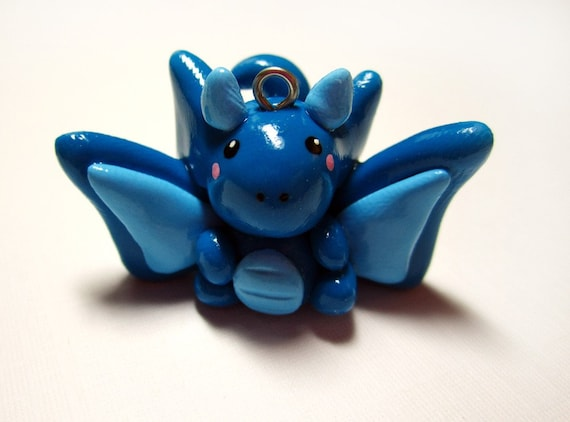 Blue Baby Dragon Charm