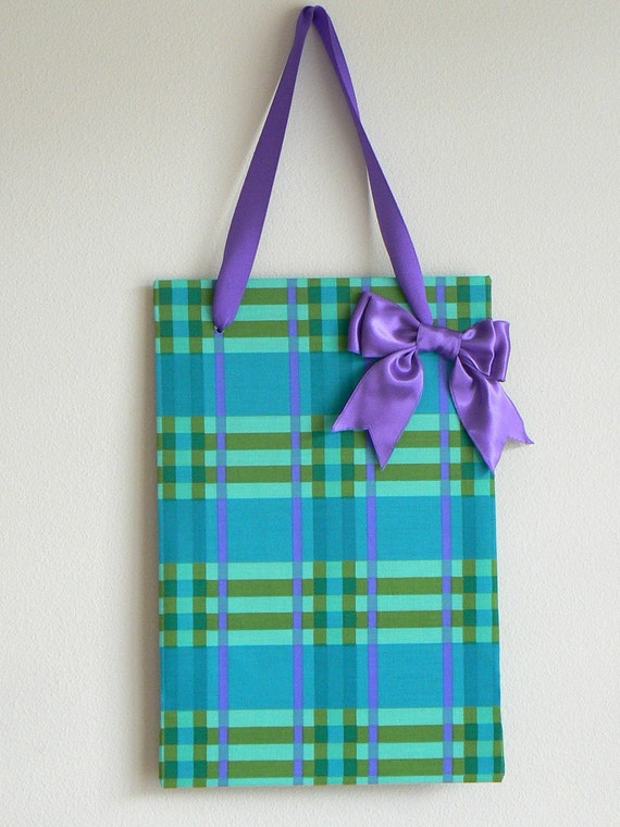Bright Plaid Magnet Board