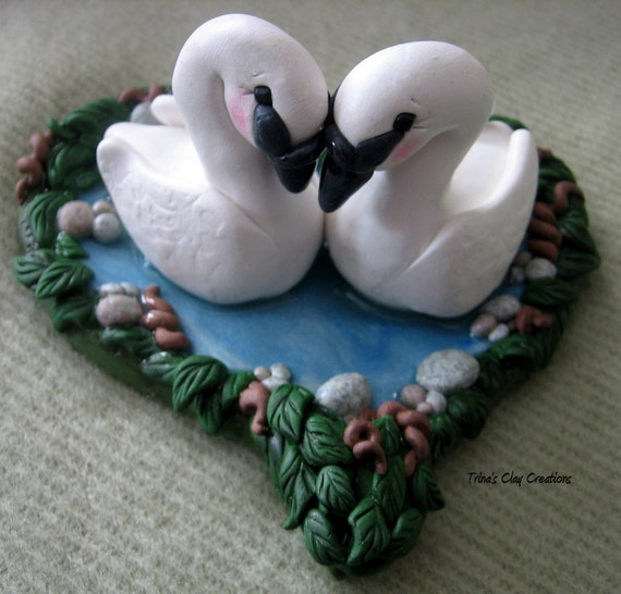 Swan Wedding Cake Topper