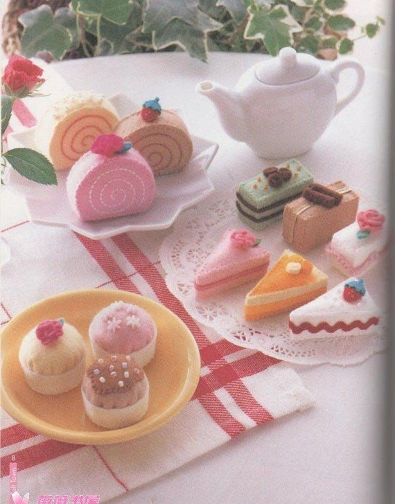 Free Shipping 25 felt sweets food pattern 4 PDF (jpg)