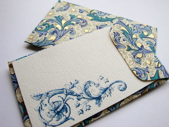 Italian Blue (Set of 8 envelopes and cards)