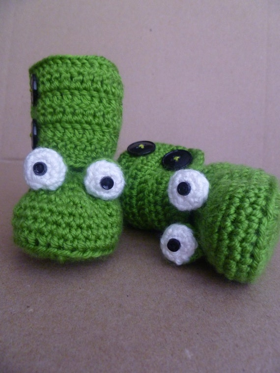 Baby Frog Booties Boots