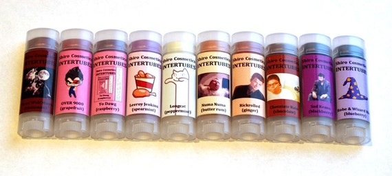 A Series of Tubes - All 10 Intertubes - Full-Sized Vegan Tubes of Win - FREE SHIPPING