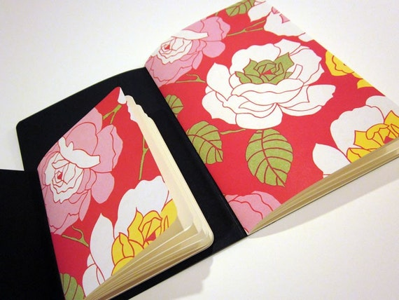 Roses Set hand stitched notebook