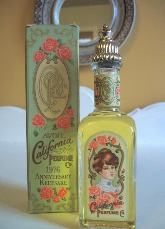 Vintage Avon Perfume Anniversary Keepsake 1976