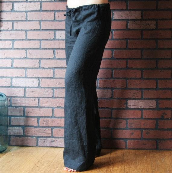 Range 2 handkercheif linen drawstring pj pants - made to order
