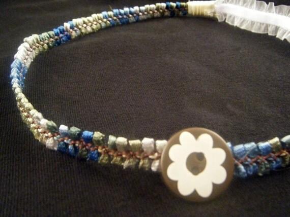Flower Button Headband