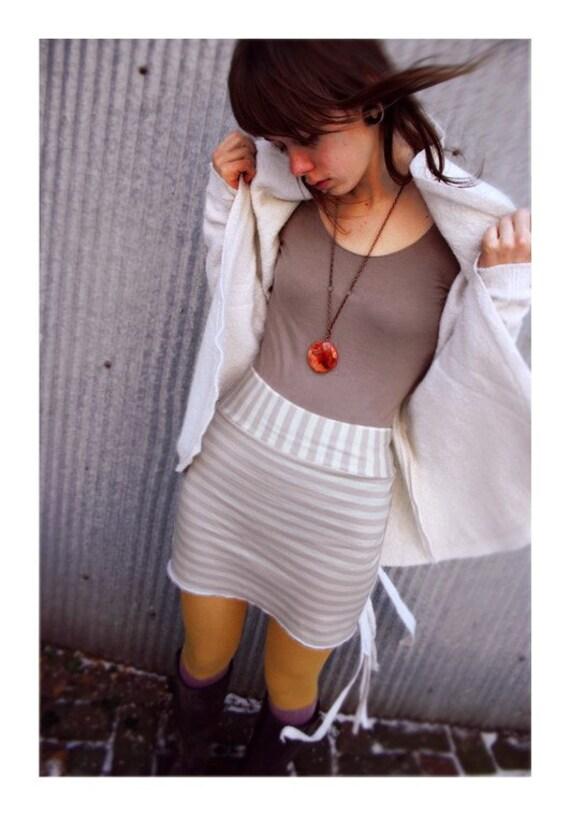 Pearl Stripe Wool Jersey Mini Skirt-Limited Edition