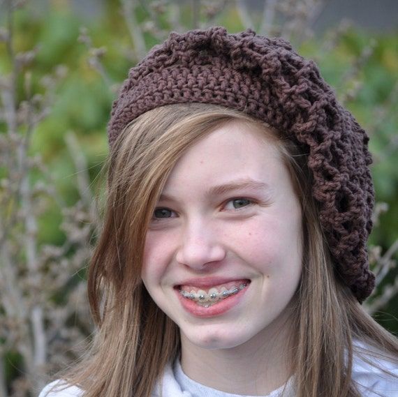 Chocolate Brown Slouchy Beanie Hat by Too Much of a Good Thing on Etsy