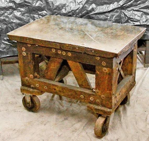 Vintage Industrial Rolling Factory Cart