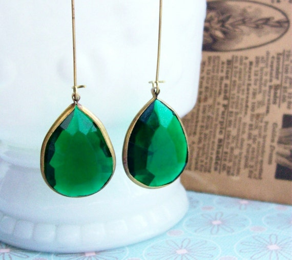 kyle richards emerald earrings. Lana in Emerald