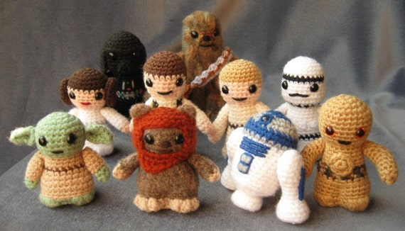 PATTERNS for all 11 Star Wars Mini Amigurumi