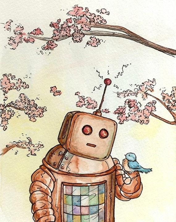 Gentle Robot, 8x10 print