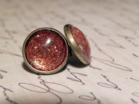 Geology: Fire Opal Studs