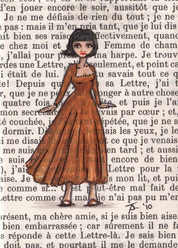 NEW Open Edition ACEO Print - Paris, 1961 - Annette Loves Her New Bob